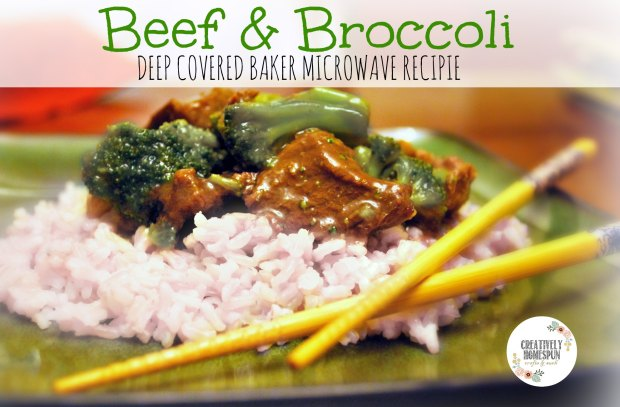 Beef & Broccoli Microwave Recipe from Creatively Homespun