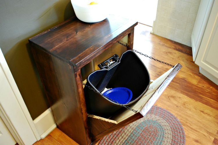 Diy Wooden Wastebasket Cabinet
