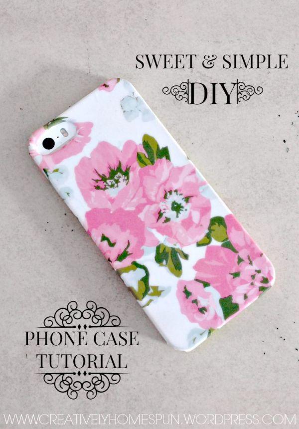Sweet & Simple DIY Phone Case Tutorial! #diy #iphone #florals #washi
